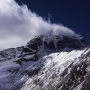 A cloud sticked to Mt. Kailash