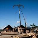 Ритуальный шест в деревни апатани