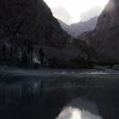Afgani village at dusk