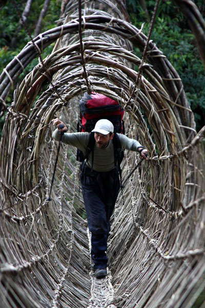 Spider-bridge in Arunachal