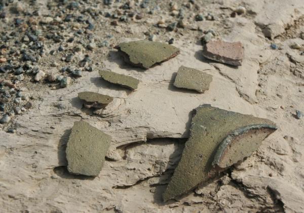 Фрагменты одного керамического изделия