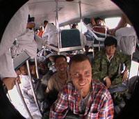 В плацкартном автобусе
