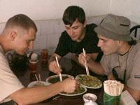 Первая трапеза в Китае
